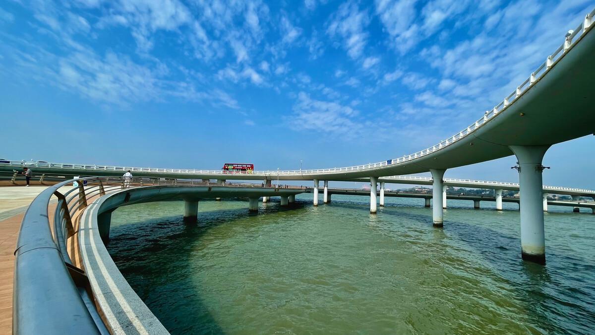 厦门旅游,凭栏望海,演武大桥