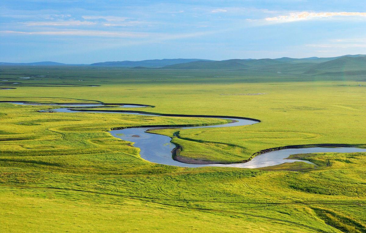 民族草原风情,额尔古纳湿地
