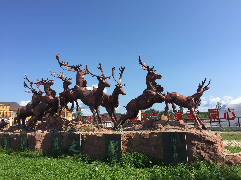 敖鲁古雅使鹿部落旅游,和驯鹿来个亲密接触