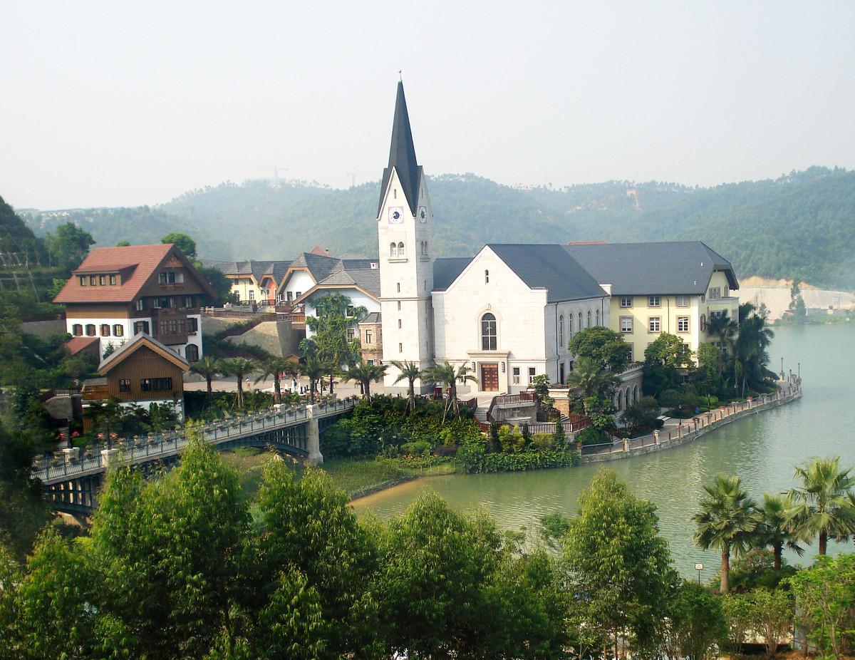 惠州的欧洲小镇,惠州哈斯塔特村